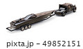 Black truck with a trailer for transporting a racing boat on a white background. 3d rendering. 49852151