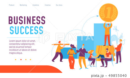 Vector concept business concept creative business illustration with working people.  49855040