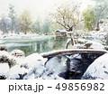 金沢 兼六園  スケッチ画 水彩画 雪景色 雪吊り  49856982