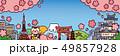 青空と桜の日本の風景 49857928