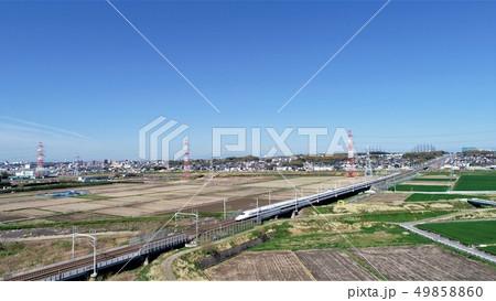 新幹線 空撮 49858860