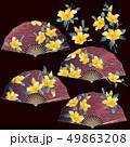 花柄扇子のイラスト, 49863208