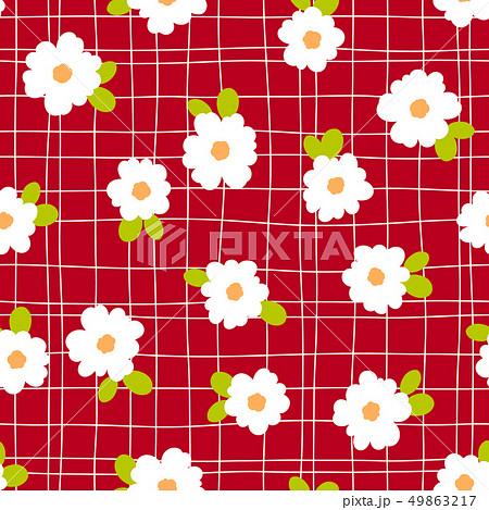 抽象的な花柄, 49863217