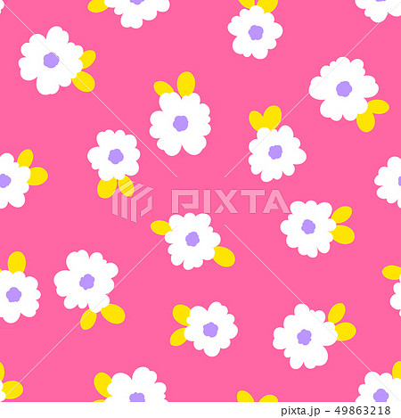 抽象的な花柄, 49863218