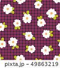 抽象的な花柄, 49863219