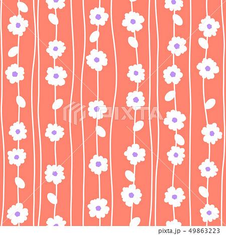 抽象的な花柄, 49863223