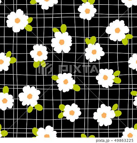 抽象的な花柄, 49863225
