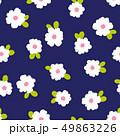 抽象的な花柄, 49863226