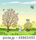うさぎ ウサギ 兎のイラスト 49863493