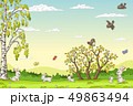 うさぎ ウサギ 兎のイラスト 49863494