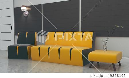 Living Room interior with gray fabric sofa 49868145