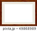 木製の額縁 フレーム ダークブラウン 49868989