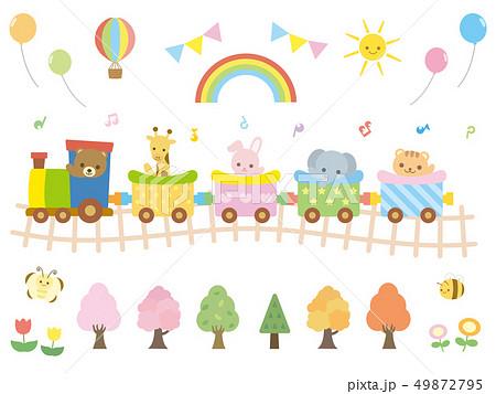 カワイイ動物と汽車1 49872795