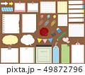 紙 メモ用紙 メモのイラスト 49872796