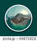 景色 風景 円のイラスト 49872828