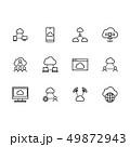 セット 組み合わせ クラウドのイラスト 49872943