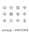 セット 組み合わせ クラウドのイラスト 49872968