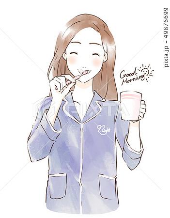 歯を磨く女性 49876699