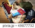 スーツケース 海外旅行保険付クレジットカード 冬 旅行 出張 パスポート セーター 49877732
