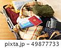 スーツケース 海外旅行保険付クレジットカード 冬 旅行 出張 パスポート セーター 49877733
