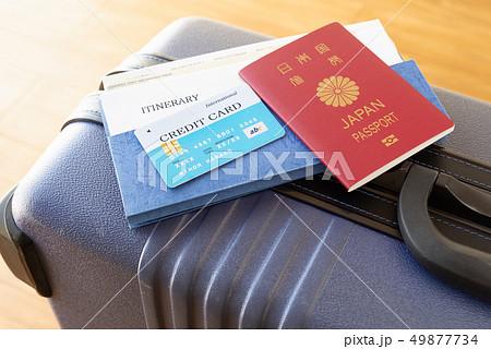 スーツケース 海外旅行保険付クレジットカード 旅行 出張 パスポート 49877734