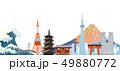 日本 風景 ベクターのイラスト 49880772