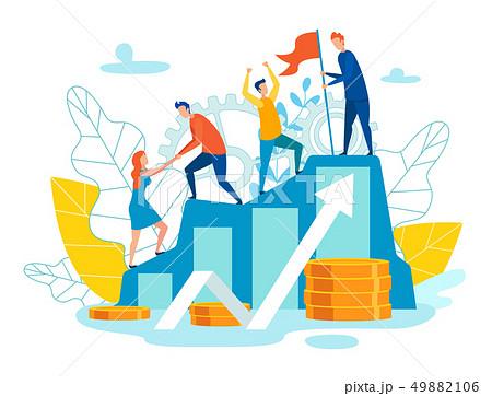 Vector Illustration Representation Team as Whole 49882106