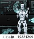 人型ロボット女性 perming3DCGイラスト素材 49884209