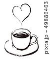 線画6:コーヒーのイラスト 49886463