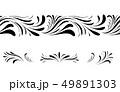 Swirl floral seamless pattern design element set. 49891303
