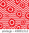 Dotted tile pattern. Zig-zag line pop-art ornament 49891312