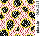 Dotted tile pattern. Zig-zag line pop-art ornament 49891313