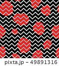Dotted tile pattern. Zig-zag line pop-art ornament 49891316