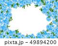 青い薔薇フレーム 49894200