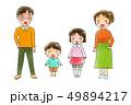 笑顔の4人家族2 49894217