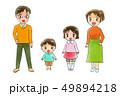 笑顔の4人家族 49894218