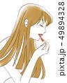 口紅をぬる女性4 49894328