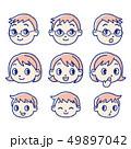 家族 顔 表情のイラスト 49897042