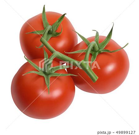 Fresh tomatoes isolated on white 49899127