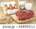 タンパク質を多く含む食品 49899311