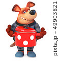 3d illustration Funny dog in pajamas 49903821