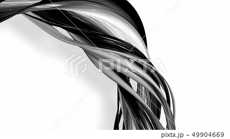 Black and white twisted plastic stripes with beautiful highlights. 49904669