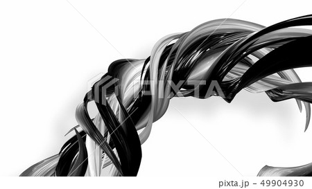 Black and white twisted plastic stripes with beautiful highlights. 49904930