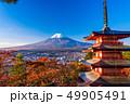 富士山 忠霊塔 新雪の写真 49905491