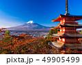 富士山 忠霊塔 新雪の写真 49905499