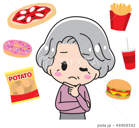 ダイエット 悩むおばあさん 49908592