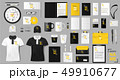 Corporate identity template design. Realistic golden and black Business Stationery mockup for shop 49910677