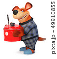 3d illustration Funny dog in pajamas 49910855