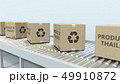 Boxes with PRODUCT OF THAILAND text on roller conveyor. Thai import or export related 3D rendering 49910872