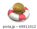 ビットコイン 救命ブイ 仮想通貨のイラスト 49911012